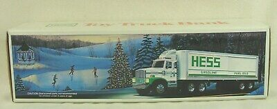 "1987 Hess Semi Truck Gas & Fuel Oils With Barrels ""In Original Unopened Box"""