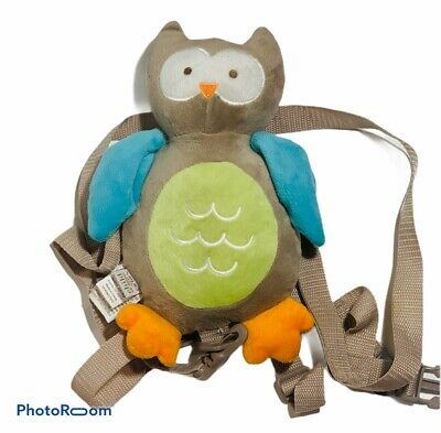 Carter's Child Of Mine Brown Owl Plush Safety Harness Leash EUC