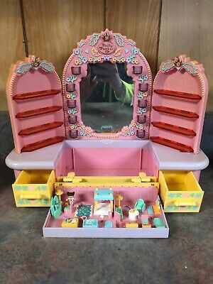 Vintage 1990 Bluebird Polly Pocket Pajama Party Dressing Table 1 Figurine