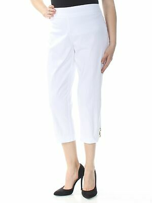 JM COLLECTION Womens White Capri Pants M