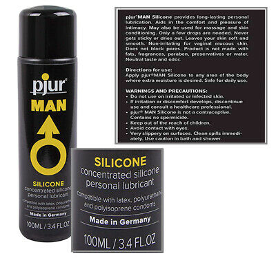 Pjur Man Basic Personal Glide Silicone Lube Long Lasting Pleasure - 100ml