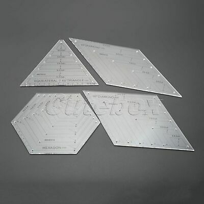 Transparent Quilting Sewing Patchwork Craft Scale Ruler Hexagon Diamond Triangle