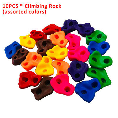 5 10 15 25PC Textured Resin Bolt On Climbing Frame Rock Wall Grab Holds Grip 80m