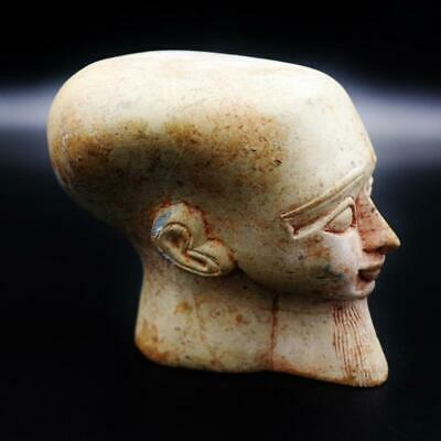 Amazing Antique Egyptian Stone of Ancient Pharaoh Bust Figure