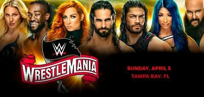 WWE Wrestlemania 36 Tickets - Tampa, FL 4/5/20 - 3D Collector Tix (2 Available)