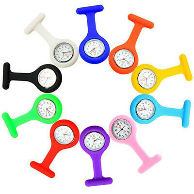 Silicone Nurse Watch Brooch Fob Pocket Tunic Quartz Movement Watch Watches Hot