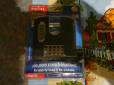 SQUIRE STRONGHOLD  PADLOCK COMBI SHCB75  10 year guarantee 13 rated*