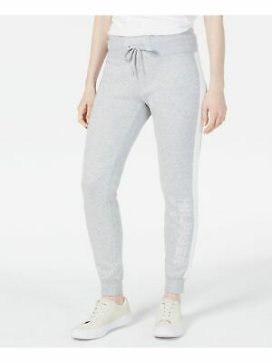 TOMMY HILFIGER $59 Womens New Gray Sport Embroidered Fleece Jogger Pants S B+B
