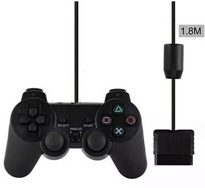 PlayStation2 Dual-Shock PS2 Wired Replacement Generic Controller Gamepad- New