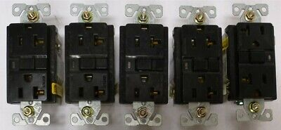 COOPER Ground Fault Circuit Interrupter 20A Receptacle 2P 125V LOT OF 5 GFCI