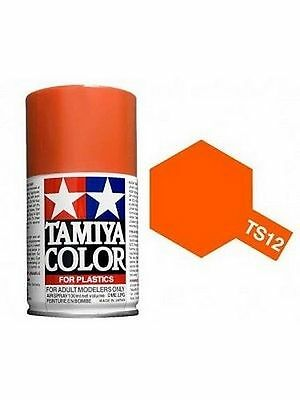 TAMIYA COLORE SPRAY PER PLASTICA ORANGE ARANCIONE 100ml    ART TS12