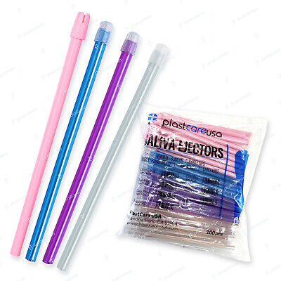 1000 (10 Bags) ASSORTED Dental Saliva Ejectors Ejector Disposable Suction Tips
