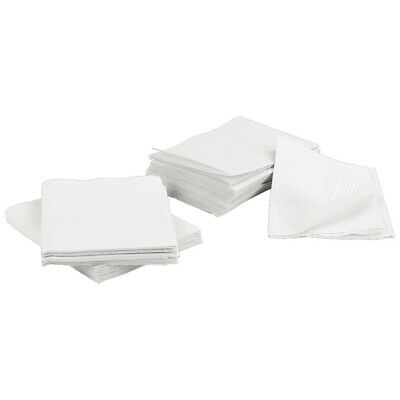 1000 White Disposable Dental Bibs, Medical Tattoo Tray Chair Bed Paper Covers