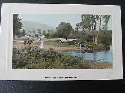 Antique 1910 colour Postcard, Graceburn Creek Healesville (Victoria)