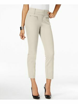 INC $70 Womens New 1147 White Curvy Fit Cropped Casual Pants 6 B+B