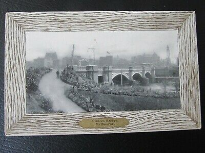 Vintage W.T.P.  Postcard, showing Princes Bridge Melbourne