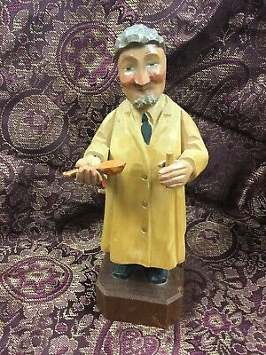 German Hand Carved Figurine Pediatrician Kinderarzt 7""