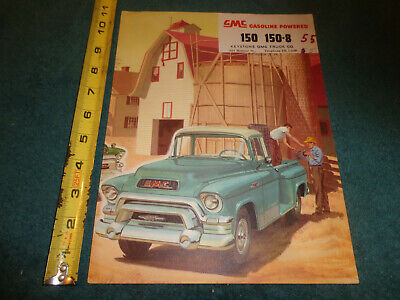 New Sales Price Brochure 1955 1956 NAPCO Chevy GMC Truck Half 3//4 1 And 2 Ton