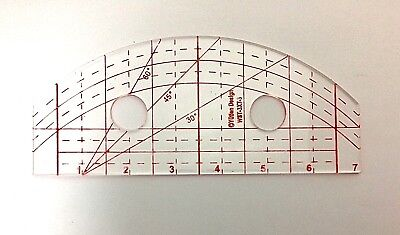 Wave & Straight Quilting Template  (3mm)    WST-3X7-3