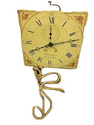 Good Antique Birdcage Longcase Clock Movement And 12ins Dial