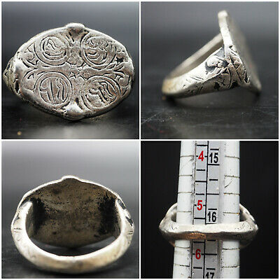 Exremly Beautiful Post Medieval Wonderful Silver Ring #A401