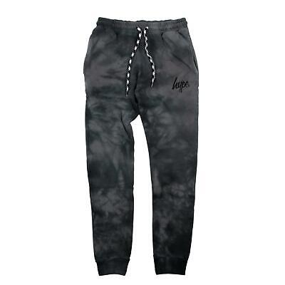 Hype Acid Wash Kids Jogging Bottoms - Black - Kids Large