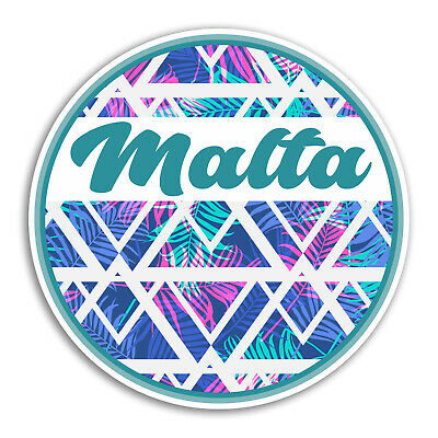 2 x Malta Vinyl Sticker Laptop Travel Luggage #4713