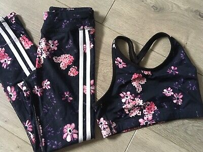 Girls Crop Top And Leggings Set, Age 8-9, Lovely Condition