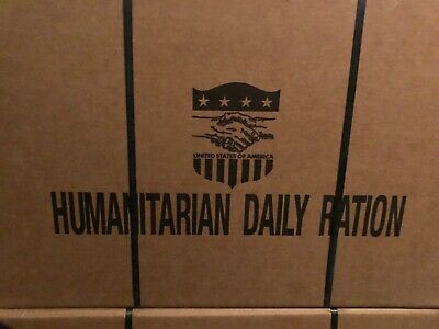 1 Case of 10 MRE Humanitarian Daily Ration HDR Prepper Camp Hunting Survival
