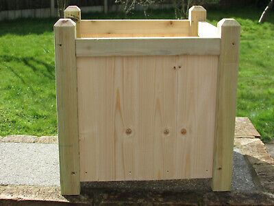 large wooden garden planter, Brand New hand made solidly built with vented base.