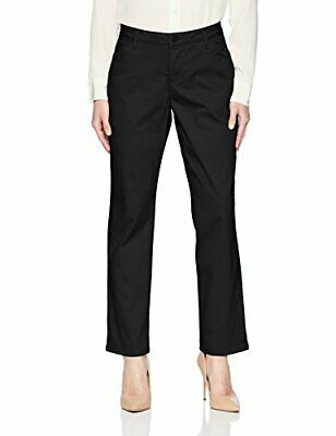 LEE Women's Relaxed Fit All Day Straight Leg Pant, Jet Black, Size 14.0 US /