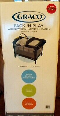 graco pack 'n play newborn napper xl station changer with storage style #1908179