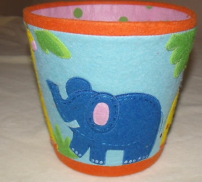 zoo/jungle trash can for baby or toddlers room pre owned