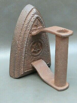 Vintage cast iron flat sad iron no. 4  - doorstop or bookend