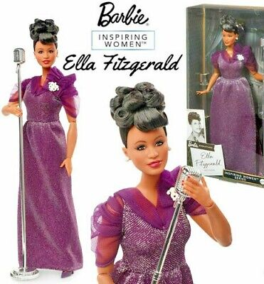 Ella Fitzgerald Barbie Inspiring Women Doll MINT IN BOX AND IN STOCK GHT86
