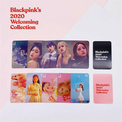 Kpop BLACKPINK 2020 Collection Photocard Glossy Paper Photograph Cards 5pcs