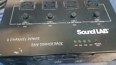Soundlab DMX 4 channel Dimmer Pack