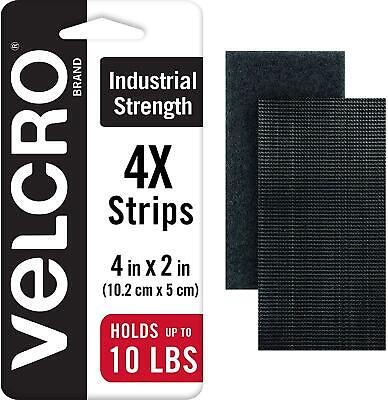 Industrial Strength Tape 4 x 2 inch Strips Heavy Duty Water Resistant 4 Sets NEW