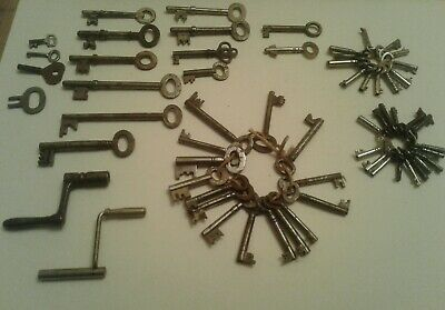 61 Vintage small & big Key Collection Door Chest Clock job lot bundle steampunk