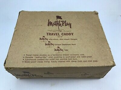 Vintage Men's Matchplay #700 Travel Caddy! Toiletry Kit, Gillette Razor, In Box!