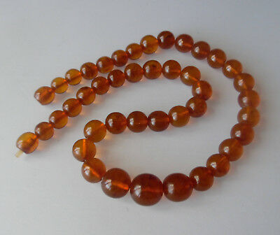 Beautiful Old Baltic Amber Pressed Necklace 51.7g 琥珀珠子
