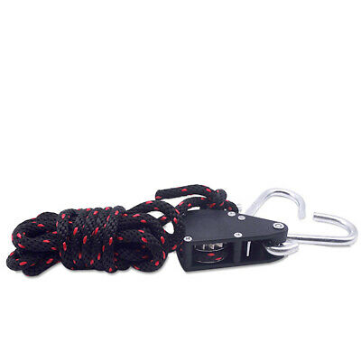 """1/4"""" Rope Ratchet 150lb Heavy Locking Hanger for Fan Grow Plant Nice Fashion"""
