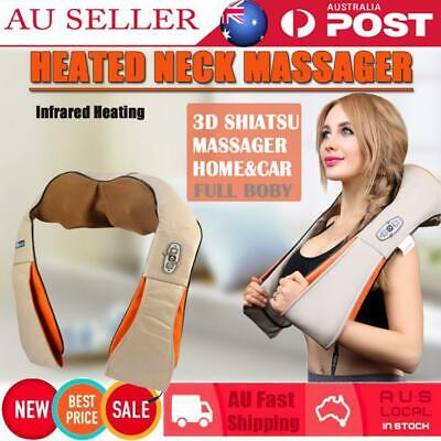 Shiatsu & Vibration Massage Heating Cushion Massager Neck Shoulder Massager New