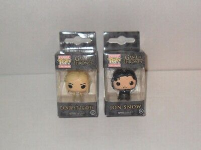 Funko Game Of Thrones Bolsillo Pop Mini Llavero Lote de 2 Jon Snow & Daenerys