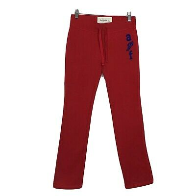 Abercrombie & Fitch Red Fleece Sweatpants Joggers Girls Size Large L