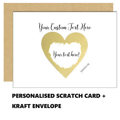 Scratch to reveal, gold foil, custom card A6