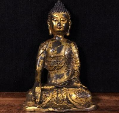 An Estate Old Chinese Ming Dynasty Bronze Buddha