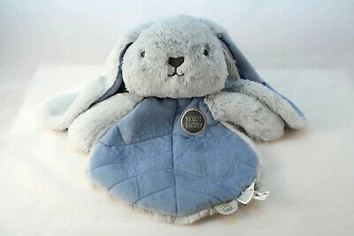 "Baby Comforter Bruce Bunny Blue Blanket soft plush toy 12""/30cm OB Designs"