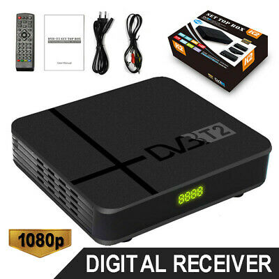 DVB-T2 HD 1080P Digital Receiver Set 3D Top TV Box USB Freeview Recorder HDMI UK