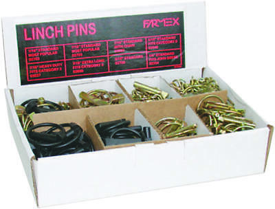 SPEECO S28030100 Lynch Pin Assortment, 7/16 in Dia Pin, Yellow Zinc Dichromate